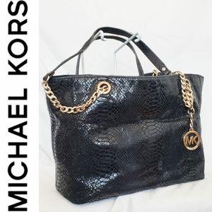 Michael Kors Black Snakeskin Purse